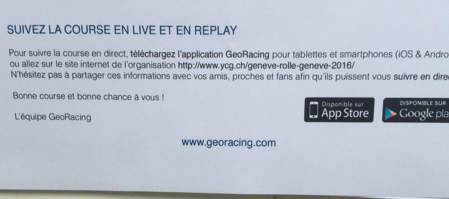 Genève-Rolle-Genève, suivez la cours en live