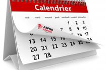 Le Calendrier 2018 est disponible. A vos agendas !